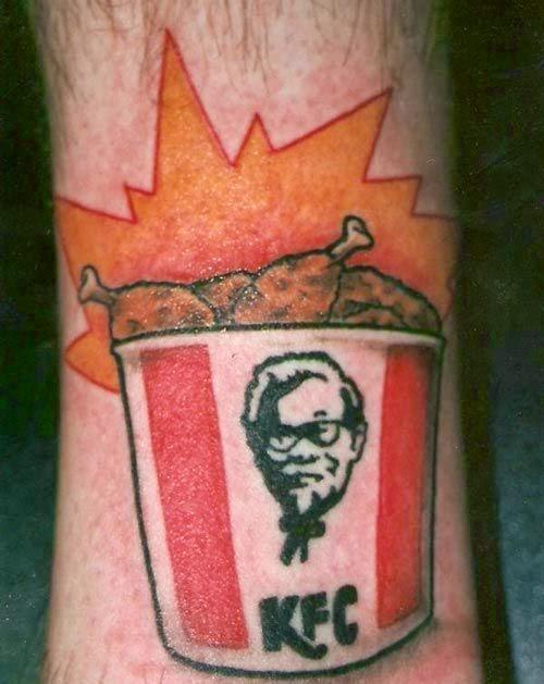 fast food, comida rápida, tattoos, tattoo, tatuajes, tinta permanente, fast food tattoos, tatuajes de comuda rapida, comida basura, tatuajes comida basura, burger king, mcdonalds, KFC, taco bell