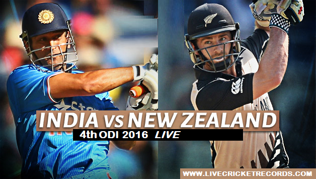 India vs New Zealand, 4th ODI