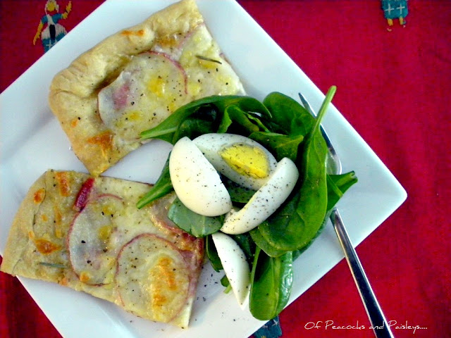Rosemary and potato pizza