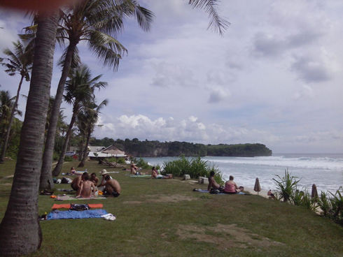 Relax on balangan beach