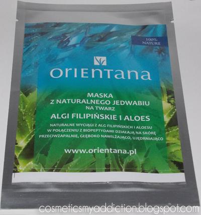 Orientana, maska z naturalnego jedwabiu na twarz - Algi filipińskie i aloes
