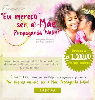 Concurso Cultural Mãe  Nalin