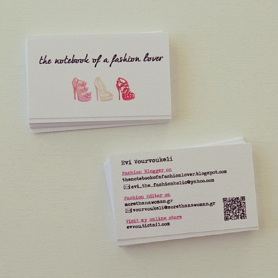 The notebook of a fashion lover instalove 5 for Business cards for bloggers