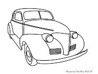 Gambar Mobil Antik Untuk Diwarnai