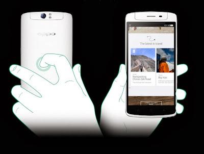 Aku dan OPPO N1 Teknologi Rear Touch Panel