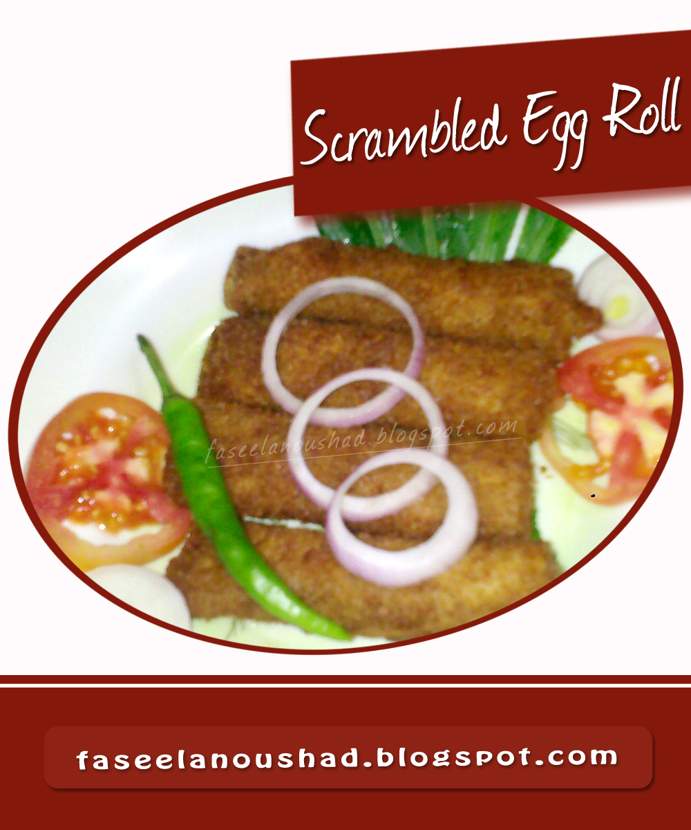 GOOD FOOD ENDS WITH GOOD TALK: Scrambled Egg Roll