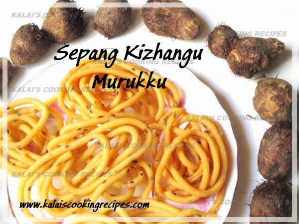 Crispy Taro Butter Murukku | Sepang Kizhangu Vennai Muruku Recipe