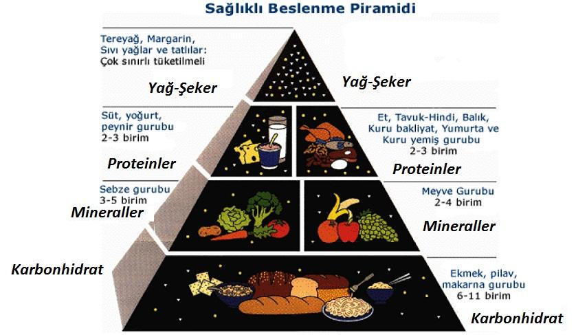 Ana besin grubu beslenme beslenme piramidi genel sağlık nasıl