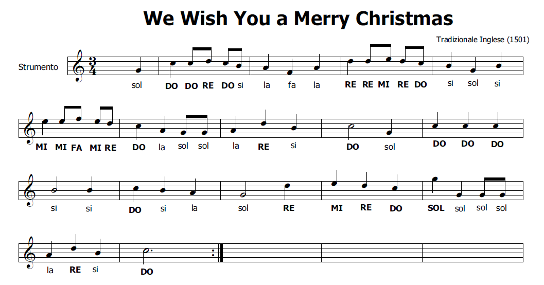 ... : Musica di Natale per flauto dolce: We wish you a merry Christmas