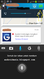 Screenshot fitur Free Voice Call BBM Android