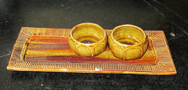 2 Lotus Cups on moulded tray