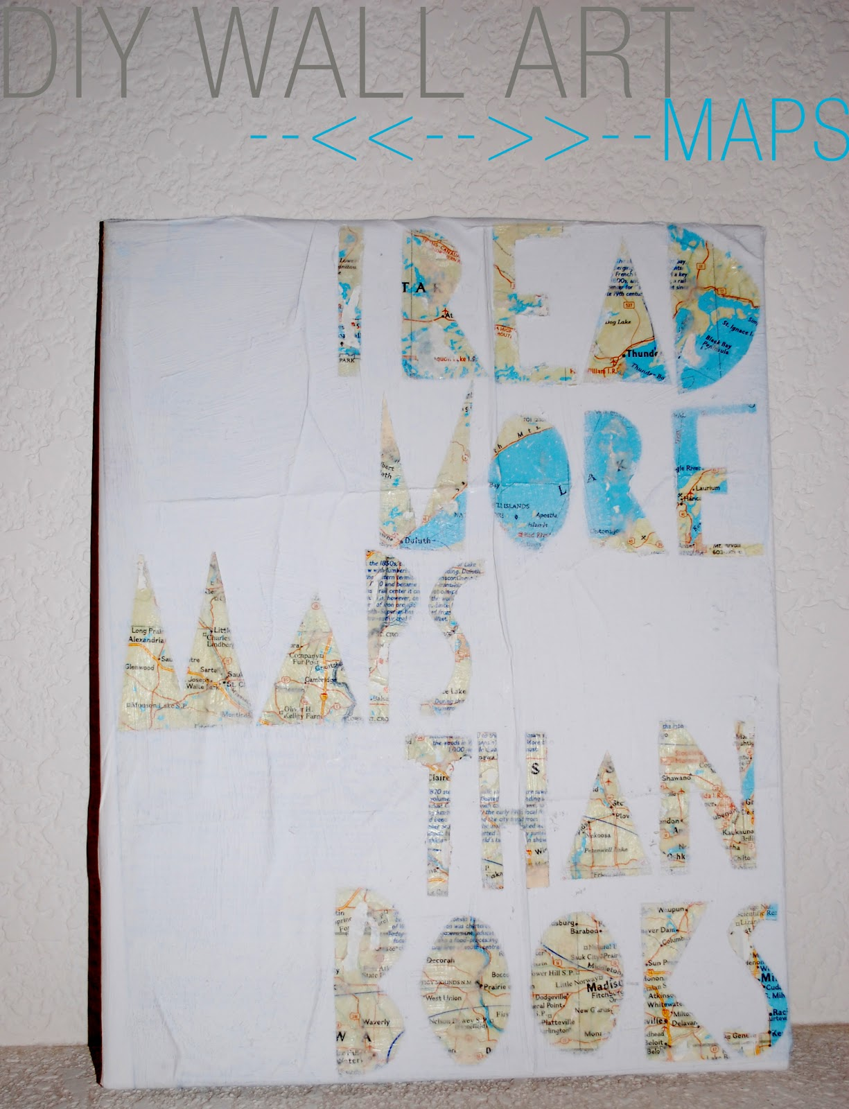 A diamond mind diy map wall art for Diy map wall art