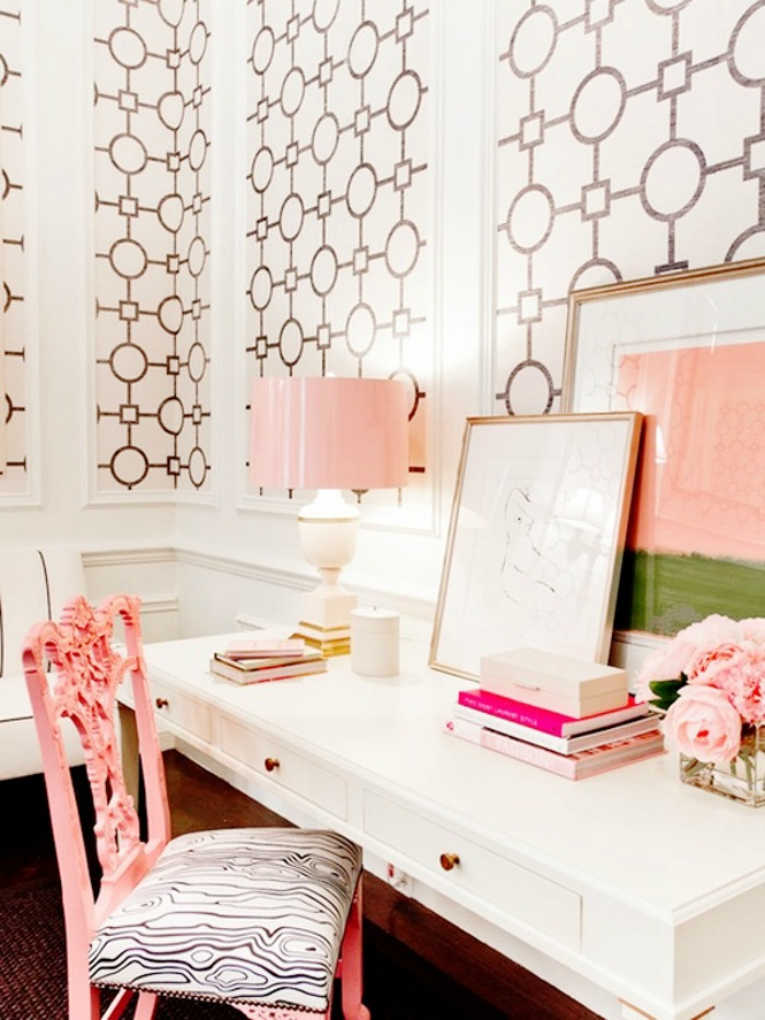 Great Home Decor Inspiration: White, Pink U0026 Gold