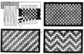 рисунки плетения из бумажных лент
