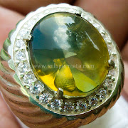Cincin Batu Permata Green Fire Opal -SP777