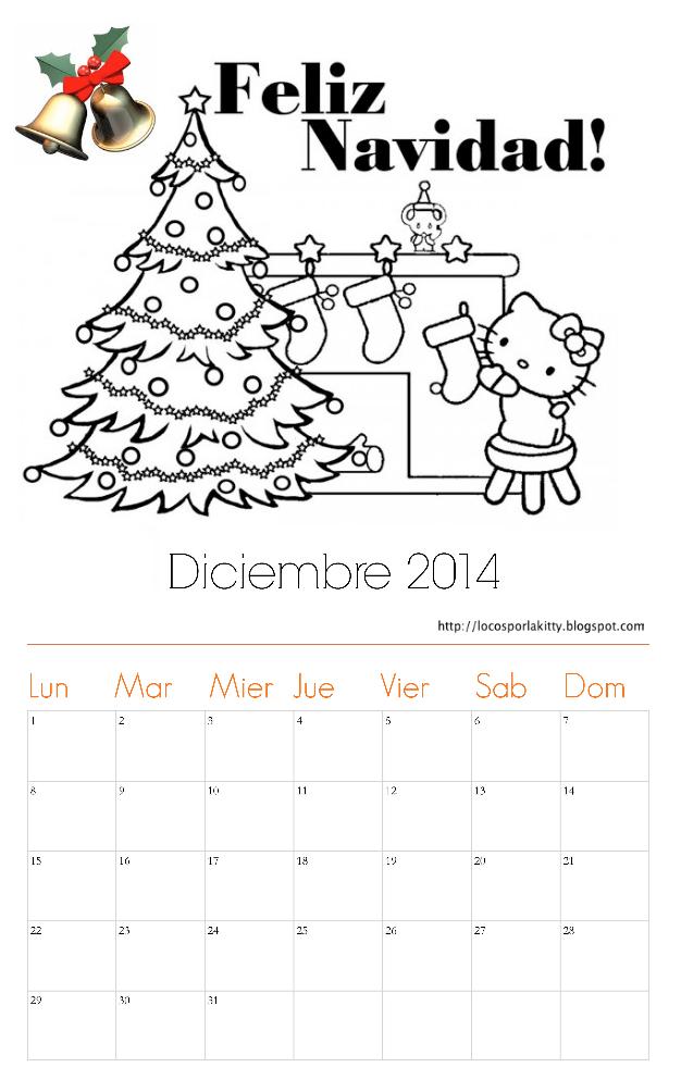 Calendario Hello Kitty Diciembre 2014 : Locos por Hello Kitty