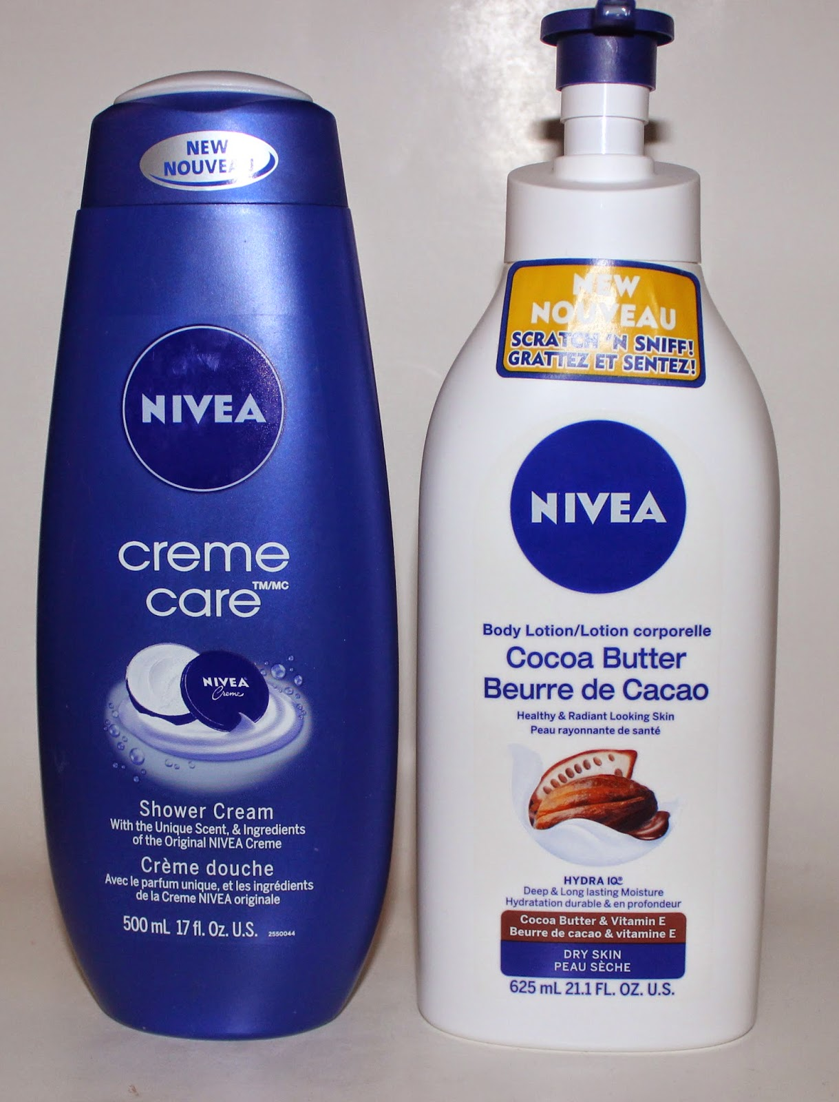 Nivea Creme Care Shower Cream & Cocoa Butter Body Lotion
