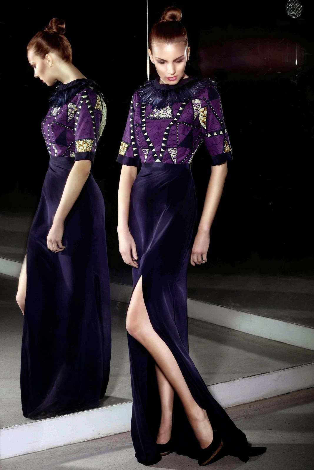 платье, ткань с крупным рисунком