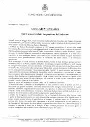 DECLARACION INSTITUCIONAL DEL AYUNTAMIENTO DE MONTESPERTOLI