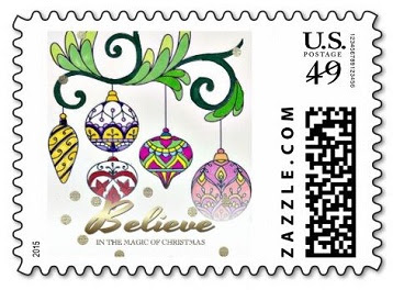 zazzle holiday personalized postage stamp