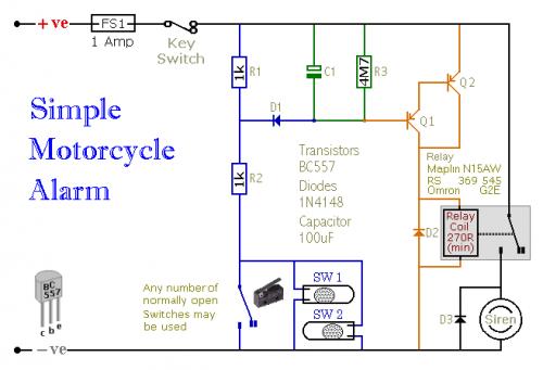 super circuit diagram motorcycle alarm with transistor circuit diagram rh circuitsan blogspot com