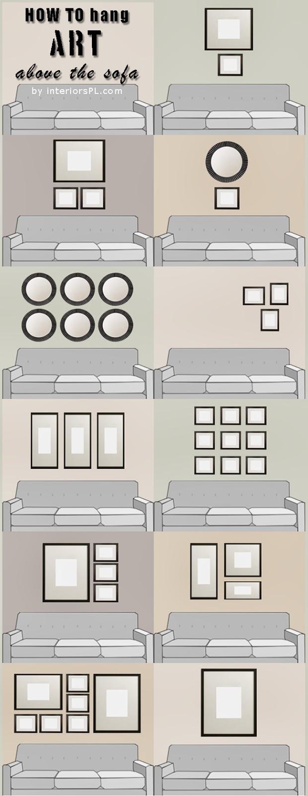 Cara mengatur lukisan di atas sofa