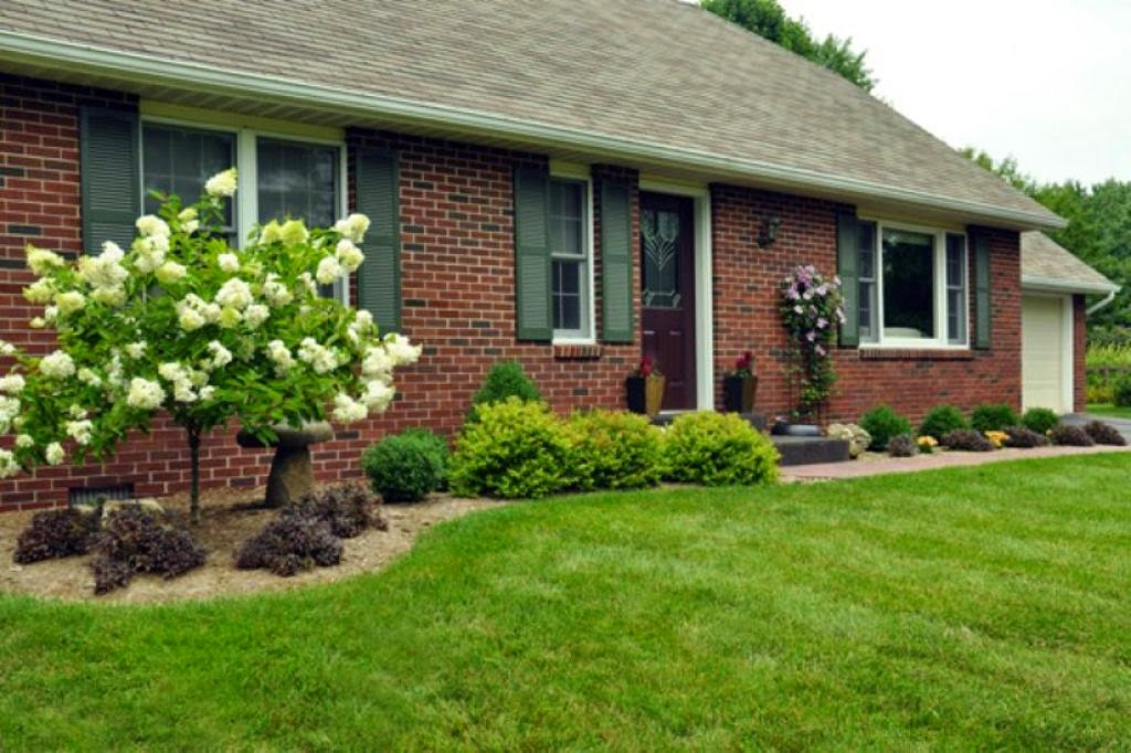 Easy front yard landscaping ideas front landscaping for New home front yard landscaping