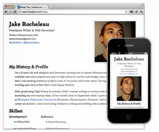 Coding A Responsive Resume In HTML5/CSS3