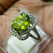 Cincin Batu Permata Green Peridot - SP696