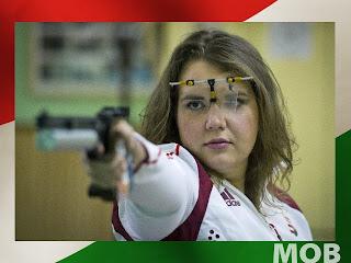 Csonka Zsófia pisztoly, olimpiai 6. hely