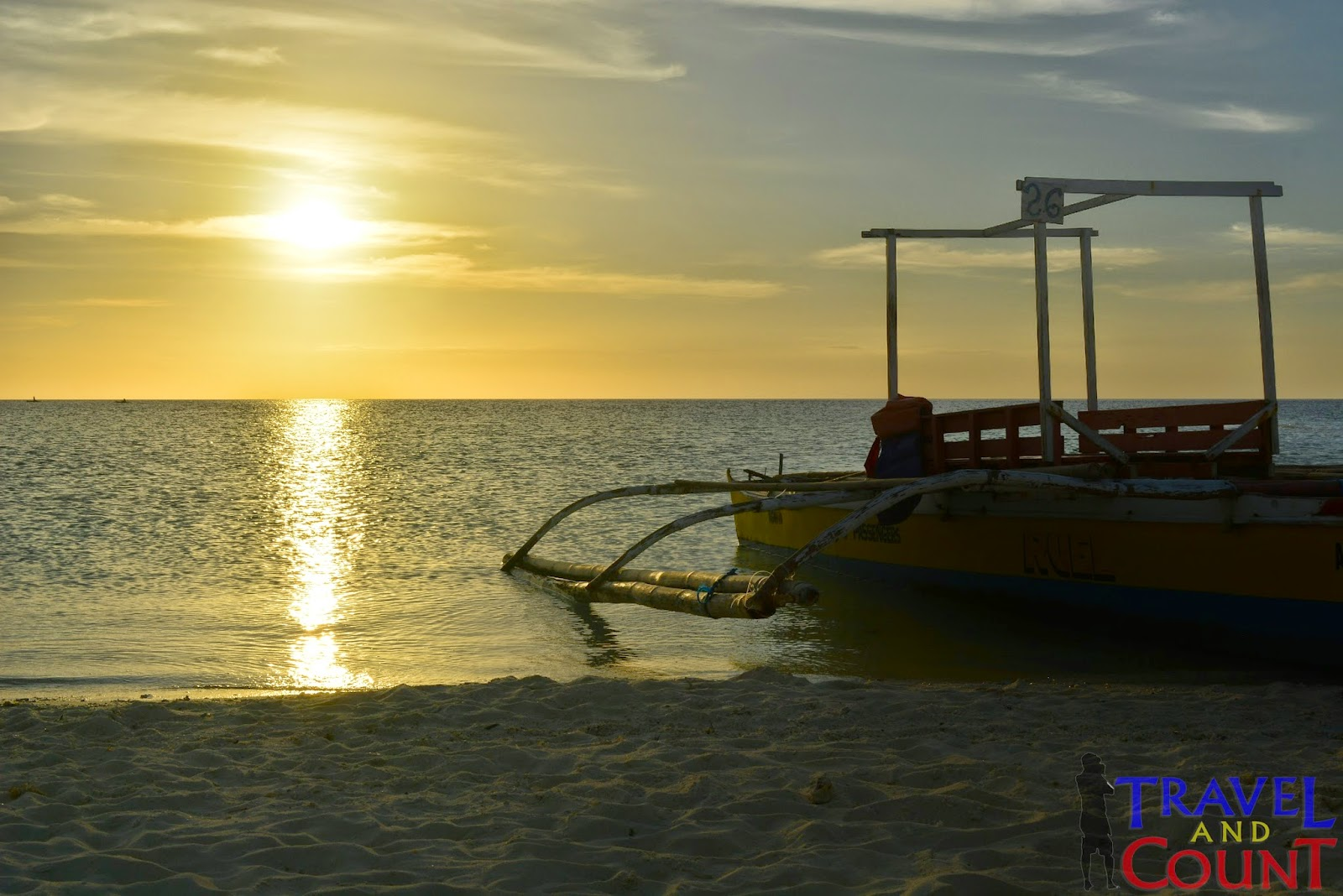 Sunset view at White Island Camiguin