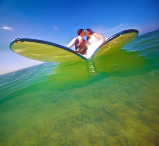 hawaii destination wedding, maui destinations, surfing wedding photos, underwater wedding photos