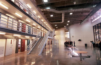 Cellhouse 1, Pod A, from ground level inside the Sterling Correctional Facility