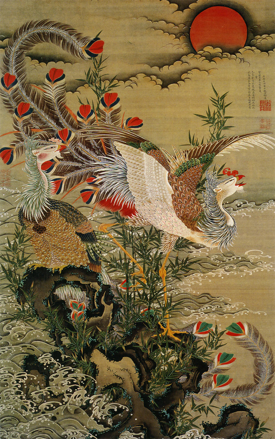 Gallery images and information  Japanese Rooster Art