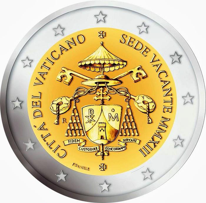 2 Euro Commemorative Coins Vatican City 2013, Sede Vacante