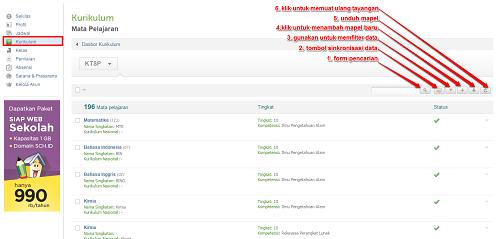 Daftar Mapel Setelah Sinkronisasi Akun padamu Negeri