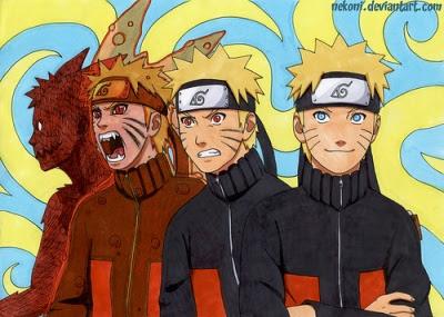 Perubahan Naruto menjadi Kyuubi
