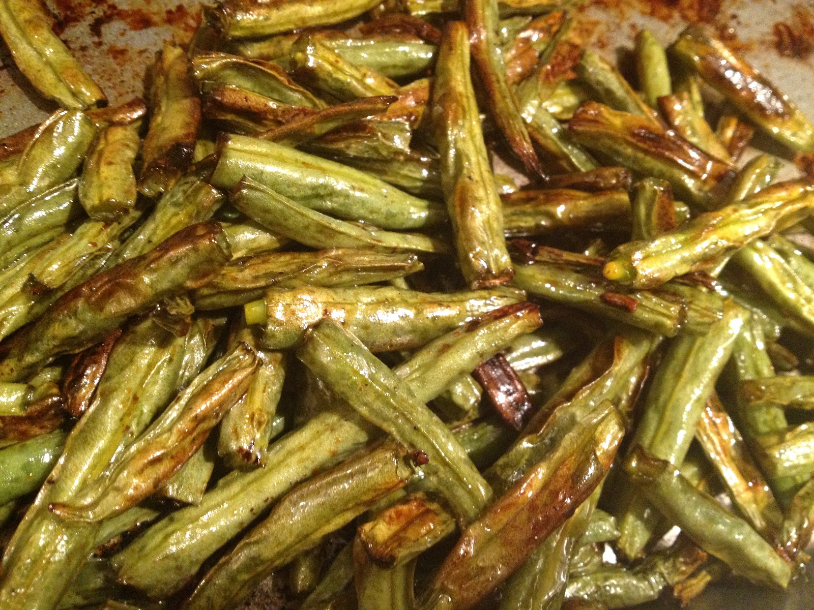 Call Me Mrs. Rapp: Teriyaki-Roasted Green Beans