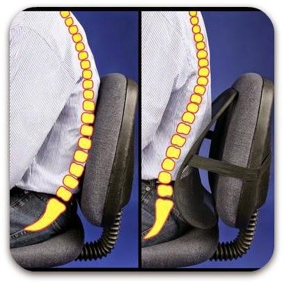 Fisioterapia en casa for Cojin lumbar silla oficina