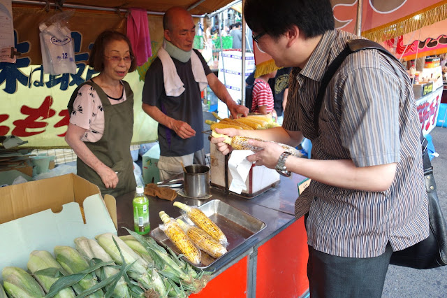 Japanese corn food stall