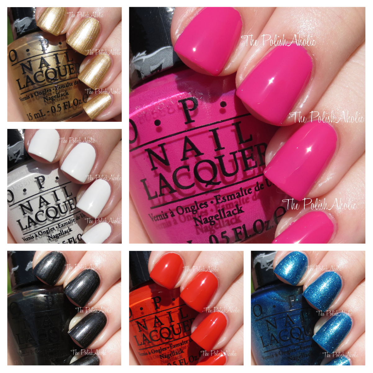 The PolishAholic: OPI Mustang Collection Swatches & Review