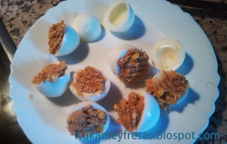 rellenamos los huevos