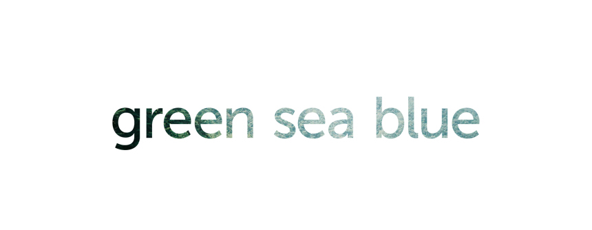 green sea blue
