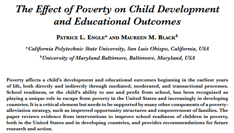 effects of poverty on education essay Writing an essay on poverty read this sample essay on poverty growing up in poverty conditions can have adverse effects (like through community education.