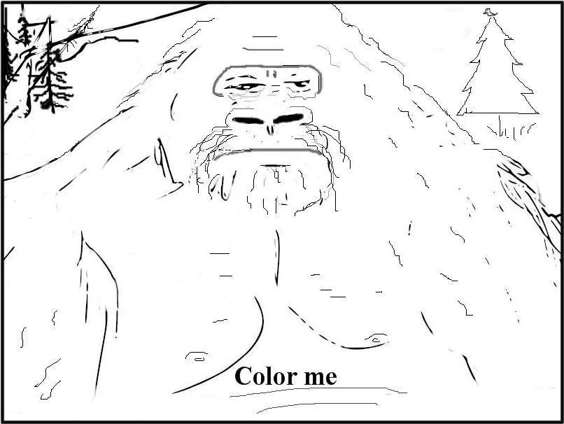 Bigfoot Ballyhoo Color Bigfoot Bigfoot Coloring Pages