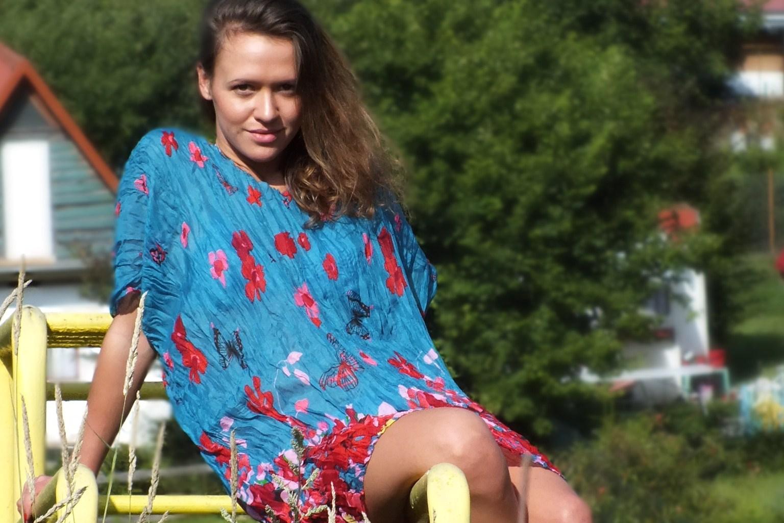 letnia sukienka z chusty