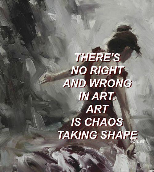 No existe el bien y el mal en el arte.