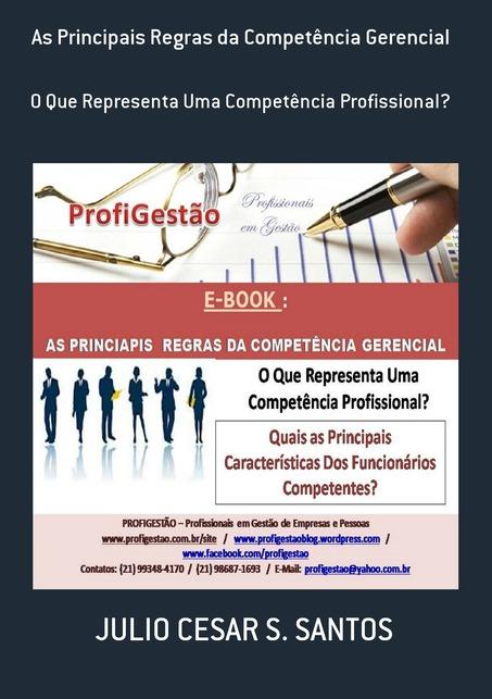 """Meu E-Book: """"As Principais Regras da Competência Gerencial"""""""