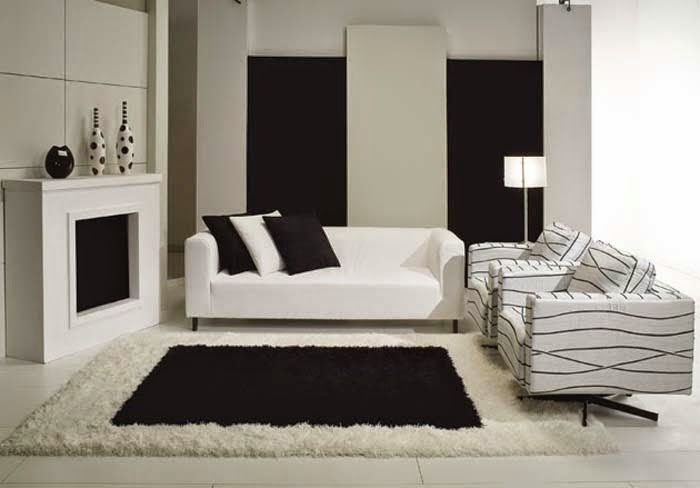 Black And White Living Room Designs And Decorating Ideas