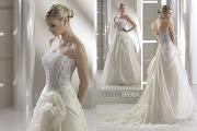 espalda excelente vestido novia con tajo